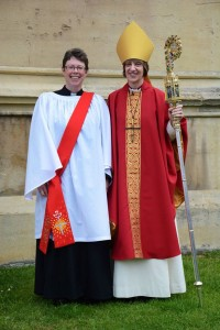Jo Pestell with Bishop Rachel